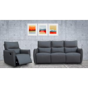 Minota- Recliner Leather Sofa