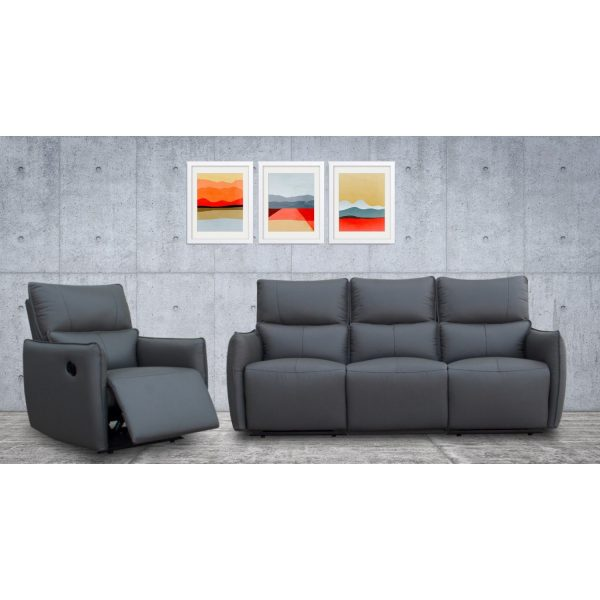 Minota- Recliner Leather Sofa