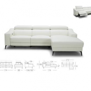 5325 Incliner Leather Sofa