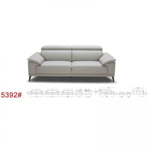 5392 -Cow-hide Leather Sofa