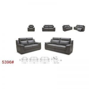 5396 Recliner Leather Sofa
