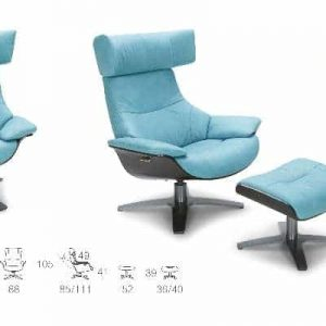 A985 Recliner Lounge chair with Fool-stool
