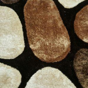 3D Shaggy carpet SR1345 Brown
