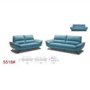 Model: 5518-Cow-Hide Leather Sofa