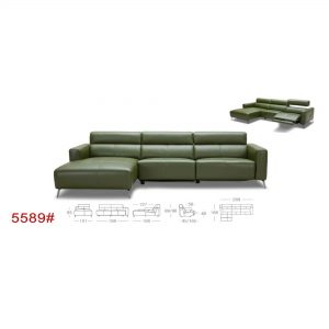 5589 L-Shape Leather Sofa