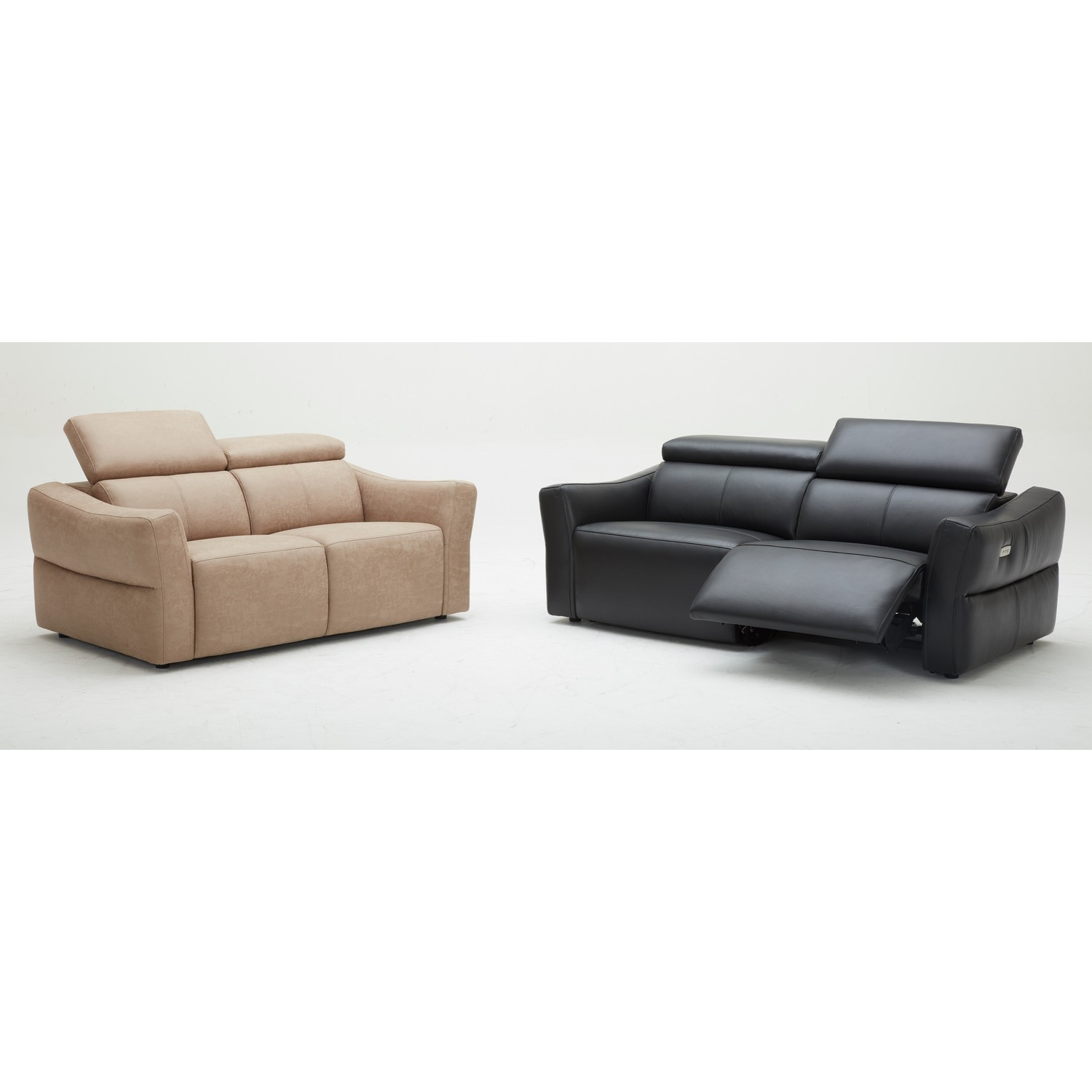 Km5018 Recliner Leather Sofa