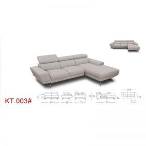 KT003-Cow-Hide L Shape Sofa